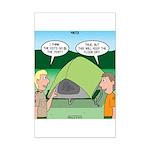 Tent Setup Mini Poster Print