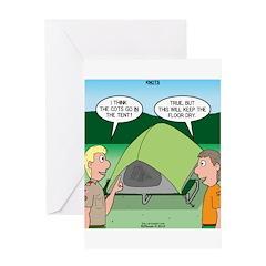 Tent Setup Greeting Card
