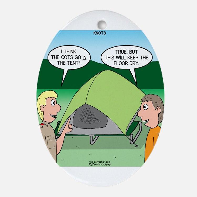 Tent Setup Ornament (Oval)