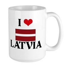 I HEART LATVIA FLAG Mug