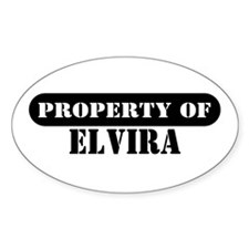 Property of Elvira Oval Decal