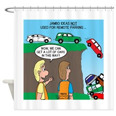 Remote Parking Shower Curtain