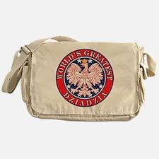 World's Greatest Dziadzia Messenger Bag