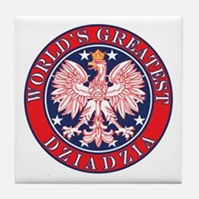 World's Greatest Dziadzia Tile Coaster