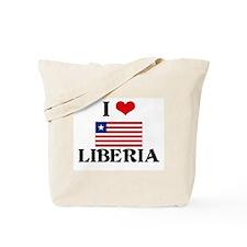 I HEART LIBERIA FLAG Tote Bag