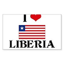 I HEART LIBERIA FLAG Decal
