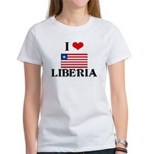 I HEART LIBERIA FLAG T-Shirt