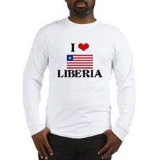 I HEART LIBERIA FLAG Long Sleeve T-Shirt