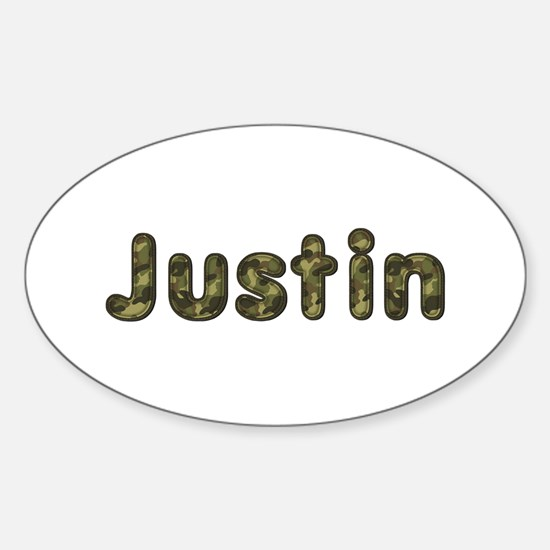 Justin Army Oval Decal