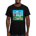 Avoid Blisters Men's Fitted T-Shirt (dark)