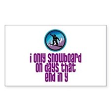 BoardChick Days Rectangle Decal