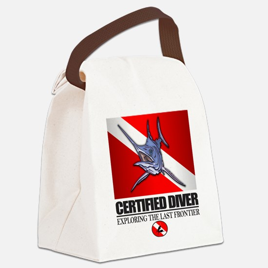 Certified Diver (Marlin) Canvas Lunch Bag