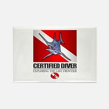 Certified Diver (Marlin) Rectangle Magnet