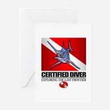 Certified Diver (Marlin) Greeting Cards (Pk of 10)