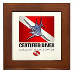 Certified Diver (Marlin) Framed Tile
