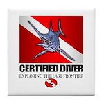Certified Diver (Marlin) Tile Coaster