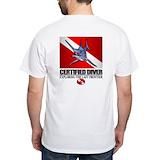 Scuba Mens White T-shirts