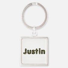 Justin Army Square Keychain