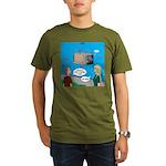 Shark Cage Organic Men's T-Shirt (dark)