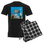 Shark Cage Men's Dark Pajamas