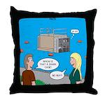 Shark Cage Throw Pillow