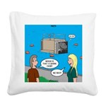Shark Cage Square Canvas Pillow