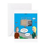 Shark Cage Greeting Card