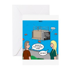 Shark Cage Greeting Cards (Pk of 20)