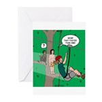 Canopy Tour Zip Line Greeting Cards (Pk of 10)