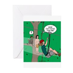 Canopy Tour Zip Line Greeting Cards (Pk of 20)