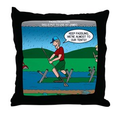 Cot Paddleboarding Throw Pillow