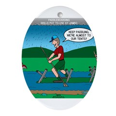 Cot Paddleboarding Ornament (Oval)