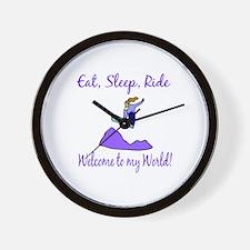 Eat, sleep, ride Wall Clock