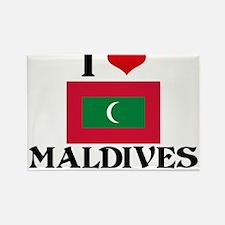 I HEART MALDIVES FLAG Rectangle Magnet