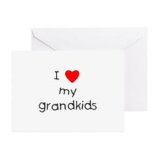 I love my grandkids Greeting Cards (Pk of 10)