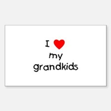 I love my grandkids Rectangle Bumper Stickers