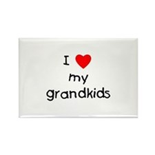 I love my grandkids Rectangle Magnet