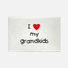 I love my grandkids Rectangle Magnet