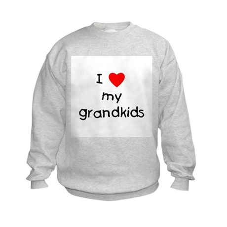I love my grandkids Kids Sweatshirt