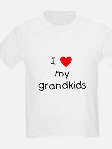 I love my grandkids Kids T-Shirt