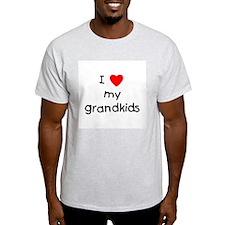 I love my grandkids Ash Grey T-Shirt
