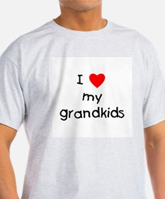 I love my grandkids Ash Grey T-Shirt