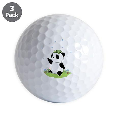 Turtle on a Panda Golf Ball