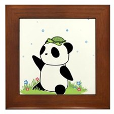 Turtle on a Panda Framed Tile