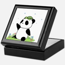 Turtle on a Panda Keepsake Box
