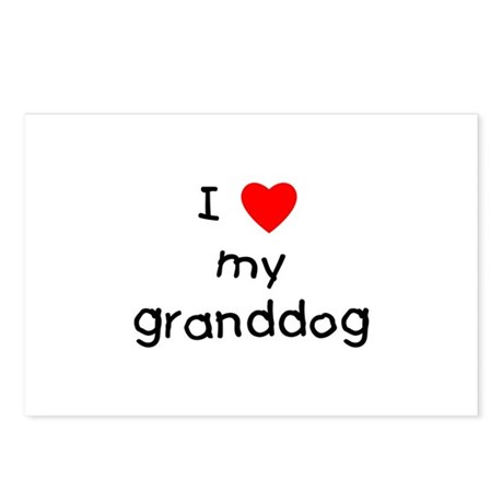 I love my granddog Postcards (Package of 8)