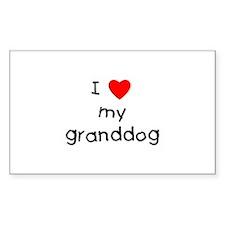 I love my granddog Decal