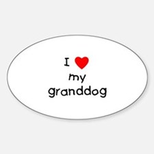 I love my granddog Decal