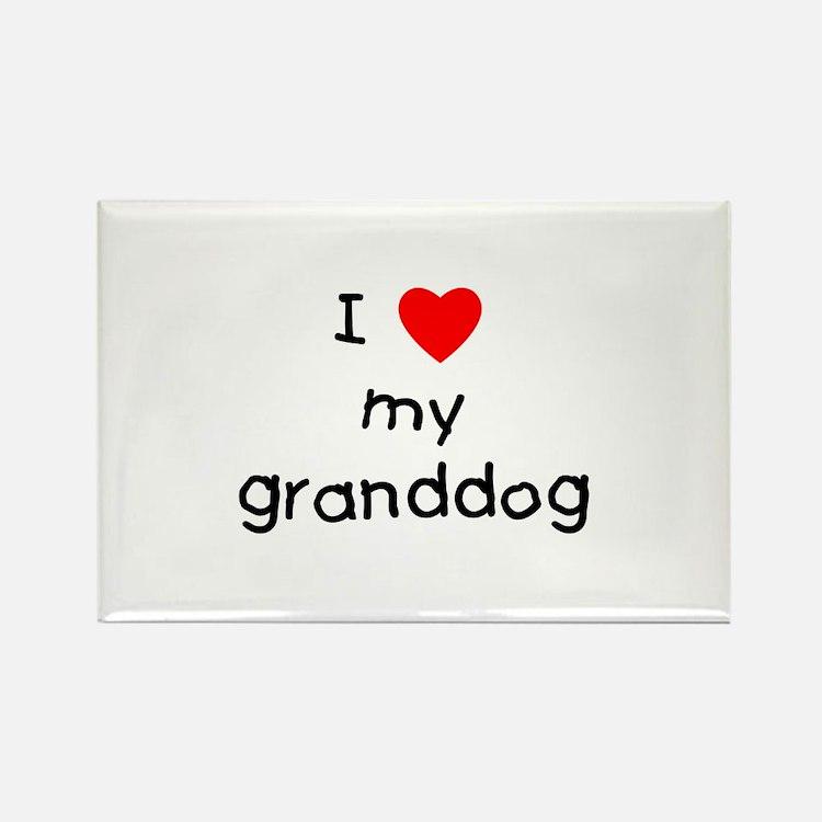 I love my granddog Rectangle Magnet (100 pack)