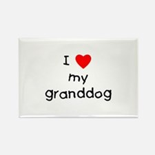 I love my granddog Rectangle Magnet